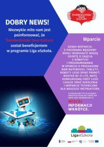 Liga eszkola - zajęcia z robotyki - nowa oferta w DK
