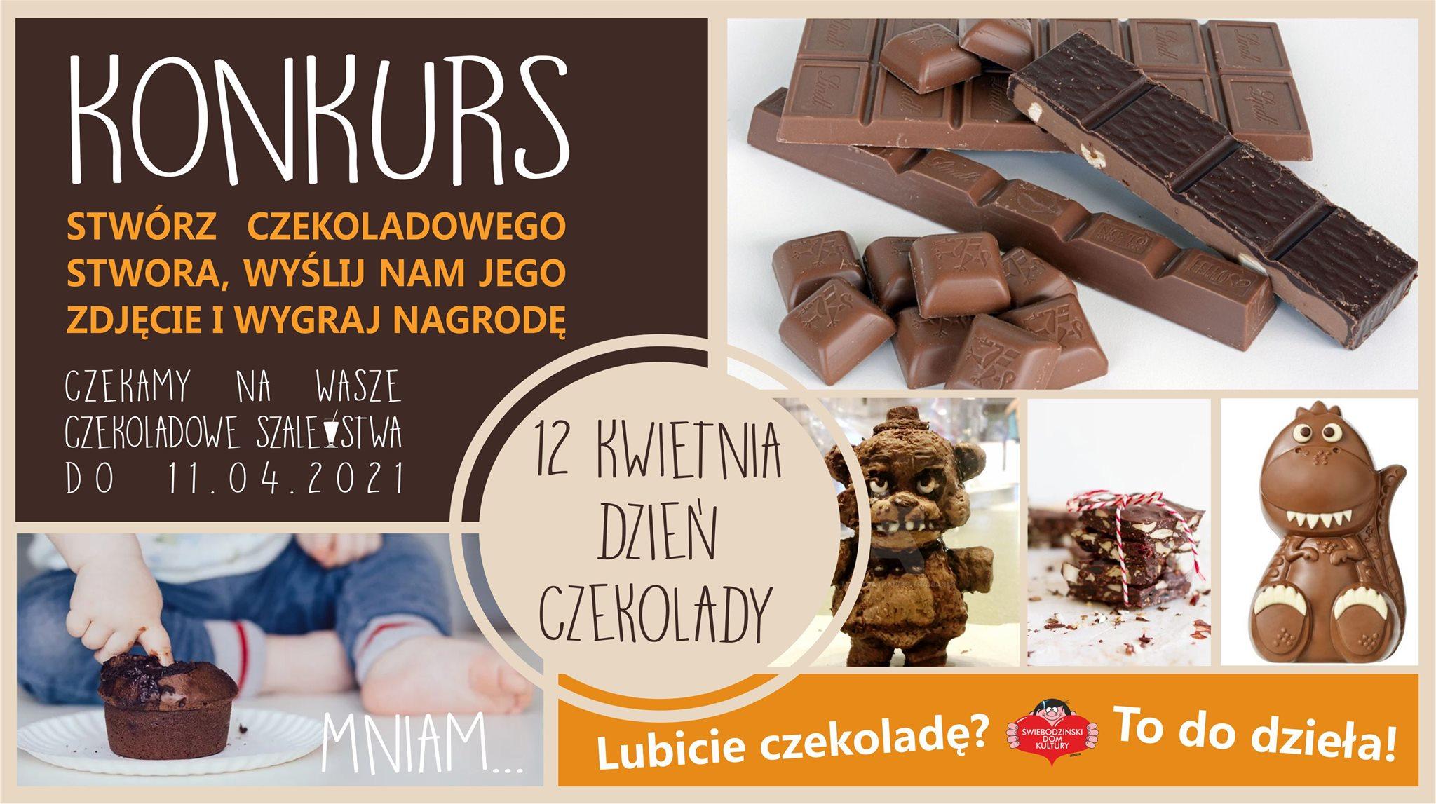 konkurs czekoladowego stwora - plakat