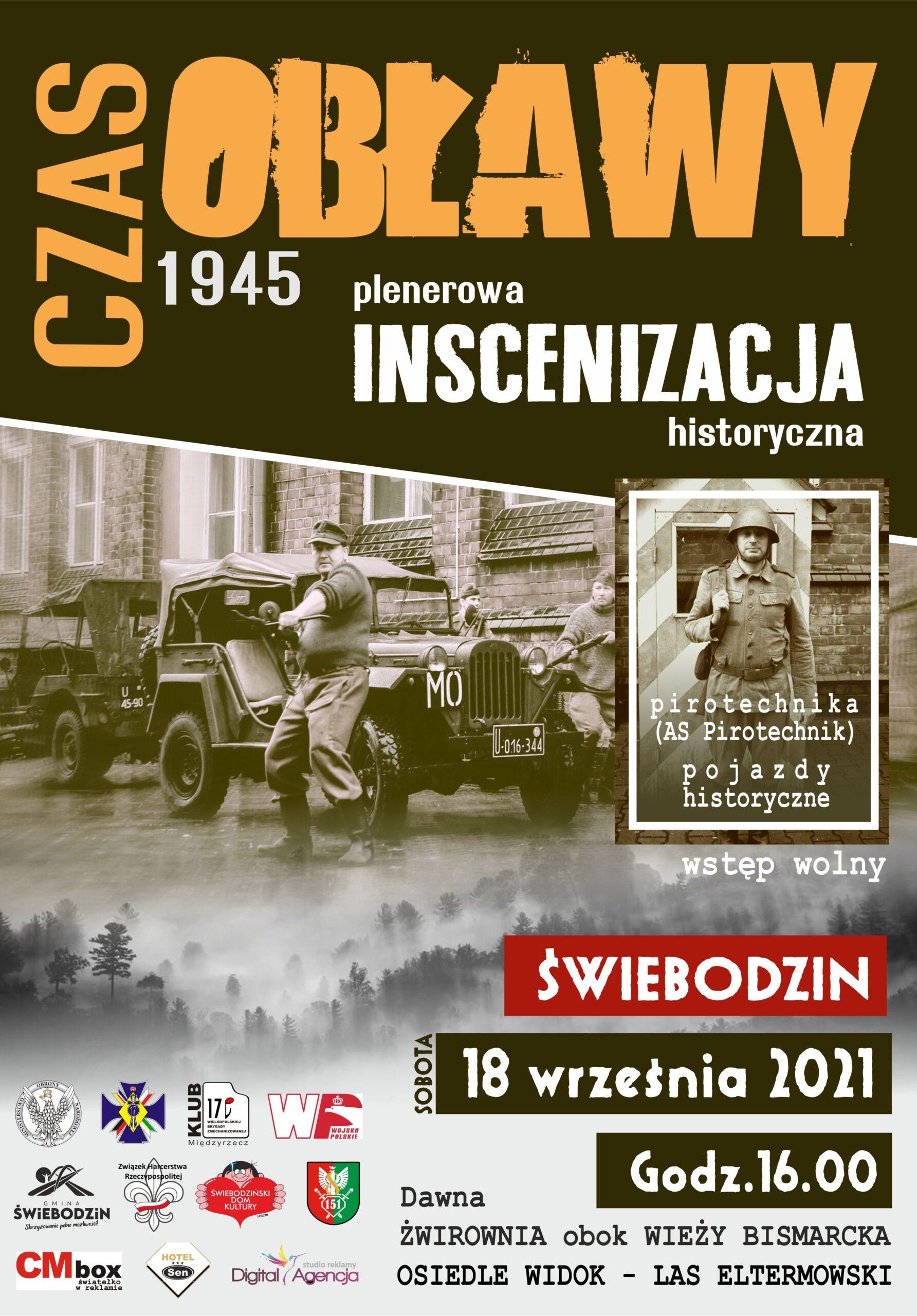 czas obławy - plakat inscenizacji historycznej 18. września las eltermowski