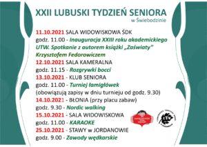 plakat promujący XXII Lubuski Tydzien Seniora